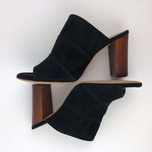 Antonio Melani Hall Mules Black Suede Size 6.5